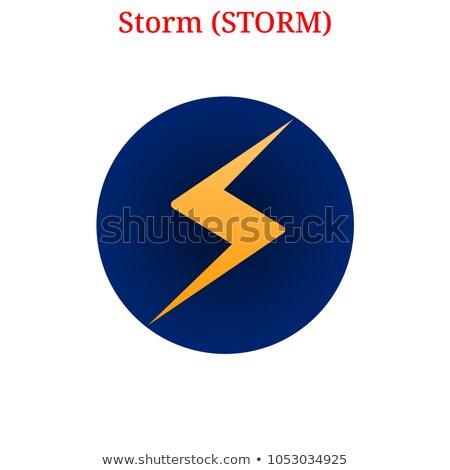 Tempesta valuta vettore moneta illustrazione virtuale Foto d'archivio © tashatuvango