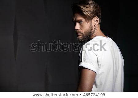 Barba tattoo alla moda forte Foto d'archivio © popaukropa
