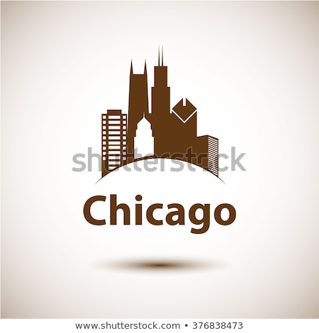 skyline · Chicago · gedetailleerd · silhouet · Illinois · business - stockfoto © blamb