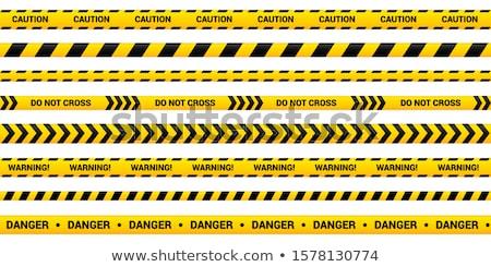 テープ · 注意 · 警察 · 行 · 警告 · ベクトル - ストックフォト © Macartur888
