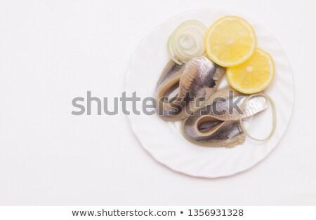 taze · tuz · limon · biberiye · gri - stok fotoğraf © Melnyk