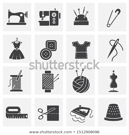 sewing related elements needle and thread icon sewing sign stock photo © terriana