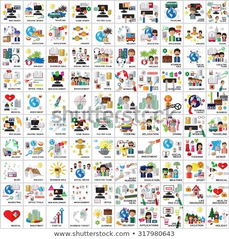 ユーザー · セット · コンピュータ · ユーザー · 良い · ウェブデザイン - ストックフォト © kyryloff
