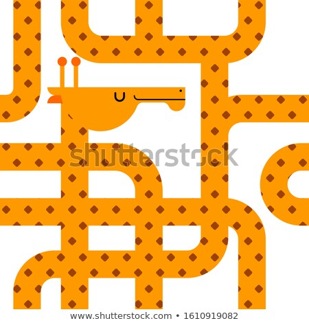 Stock photo: Giraffe pattern seamless. Beast long neck texture. Wild animal b