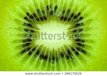 Kiwi textuur voedsel natuur hart Stockfoto © ungpaoman