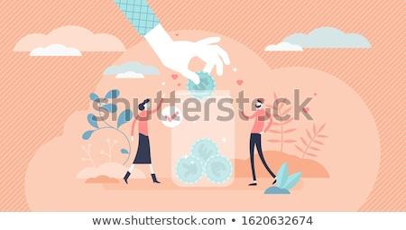 œuvre de bienfaisance jar personnes argent pièces Photo stock © robuart