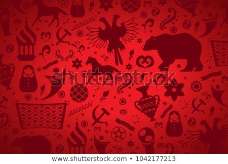 Orosz futballabda embléma futball bajnokság Oroszország Stock fotó © popaukropa