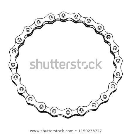 fehér · lánc · forma · illusztráció · fém · sziluett - stock fotó © m_pavlov