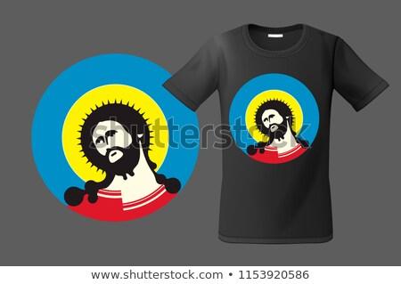現代 Tシャツ デザイン 肖像 イエス キリスト ストックフォト © ikopylov