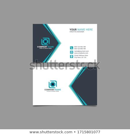 Professionele Rood meetkundig visitekaartje ontwerp business Stockfoto © SArts
