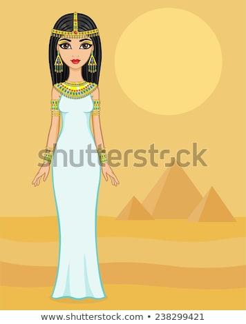 египетский Принцесса пустыне портрет роскошь Сток-фото © artfotodima