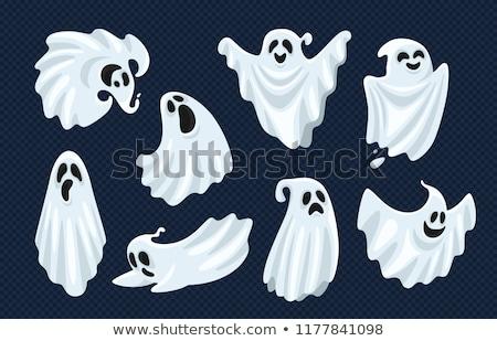 Zangado desenho animado fantasma ilustração olhando gráfico Foto stock © cthoman