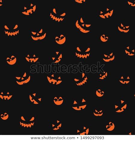 seamless halloween pattern stock photo © -talex-