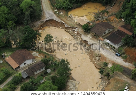 Cyclone hit the rural area Stock photo © bluering
