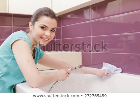 洗浄 女性 タップ 現代 歯科 オフィス ストックフォト © boggy