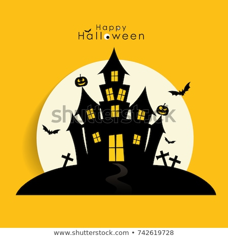 Heureux halloween bannière grave fantôme Photo stock © SArts