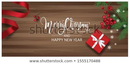 Christmas website banner ingesteld feestelijk illustraties Stockfoto © derocz