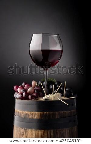 vin · rouge · verre · raisins · isolé · blanche - photo stock © denismart