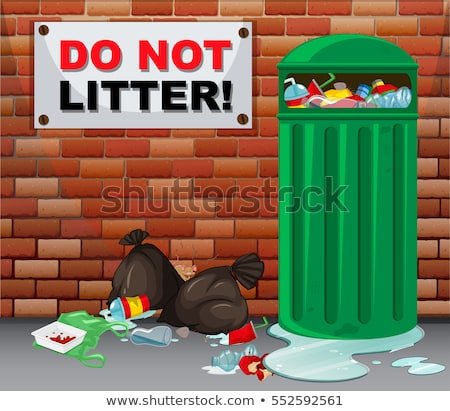 Do not litter scene Stock photo © bluering