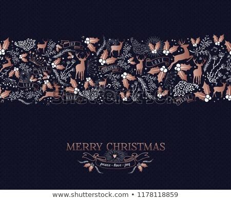 Noël cerfs cuivre couleur simple Photo stock © cienpies