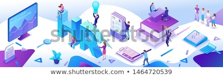 Human resources concept landing page. Stock photo © RAStudio