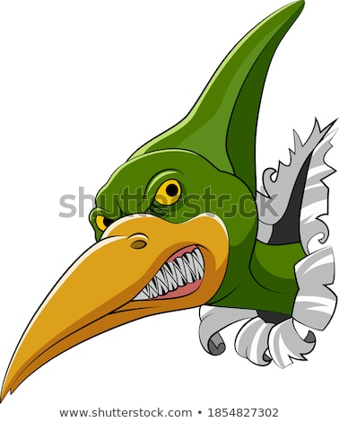 Cartoon Angry Pterodactyl Stock photo © cthoman