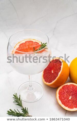 ガラス オレンジ ソーダ ドリンク アイスキューブ 白 ストックフォト © DenisMArt