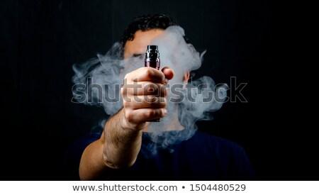 gündelik · sigara · kız · yüz · dudaklar - stok fotoğraf © andreypopov