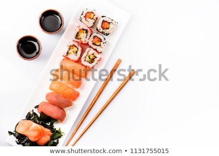 Establecer gamba blanco ilustración alimentos naturaleza Foto stock © bluering