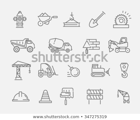 Construction and Building Machinery Icons Set Stock photo © robuart