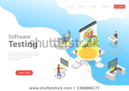 güvenli · bilgisayar · iş · kalkan · bilgisayar · monitörü · televizyon - stok fotoğraf © tarikvision
