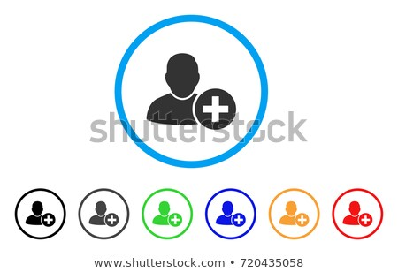 Add User rounded icon. Vector designed for web and software interfaces. Vector illustration Isolated Stock photo © kyryloff