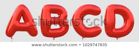 balloons font set a, b, c, d Stock photo © paulart