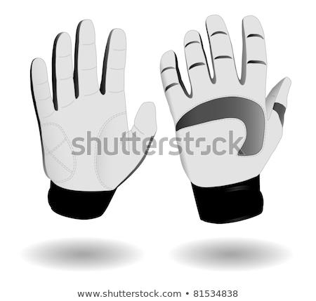 futball · kapus · kesztyű · ikon · feketefehér · sport - stock fotó © angelp