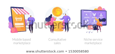 Niche service marketplace concept vector illustration. Stock photo © RAStudio