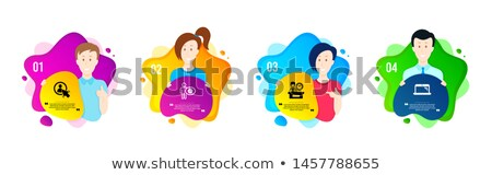 Clock in Shape of Cogwheel Icon, Time Management Stock photo © robuart