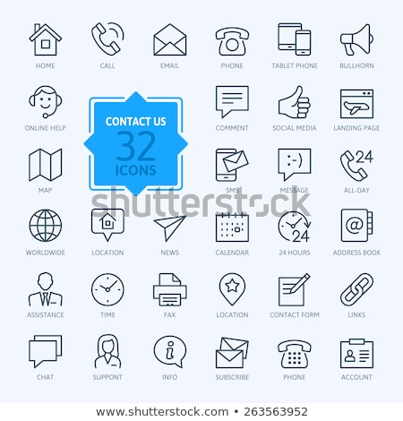 support and messages envelopes icons set vector stock photo © robuart