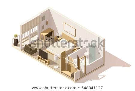 Vector isometric apartment hotel suite Stock photo © tele52