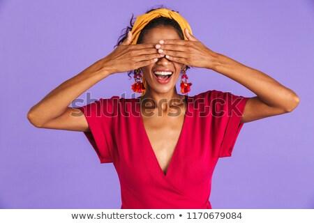 Obraz piękna zabawny kobieta 20s włosy Zdjęcia stock © deandrobot