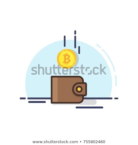 Cüzdan ikon madeni para damla iş arka plan Stok fotoğraf © Winner