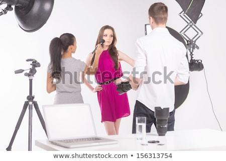 Hand photo shooting with photo ideas concept ストックフォト © ra2studio