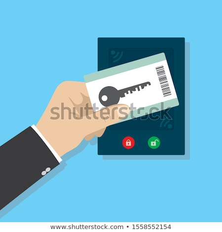 Security access card vector illustration. Stock photo © RAStudio