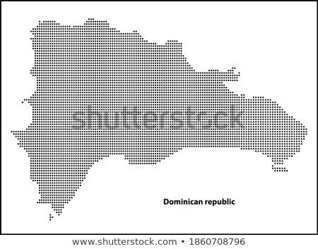 black halftone hexagon dotted world map vector illustration dotted map in flat design vector illu stock photo © kyryloff