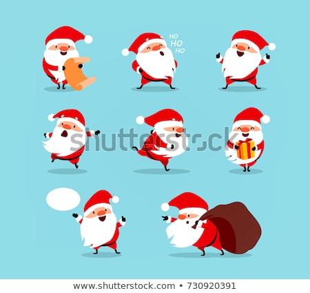 漫画 · 実例 · サンタクロース · を実行して · ギフト · 笑顔 - ストックフォト © bennerdesign