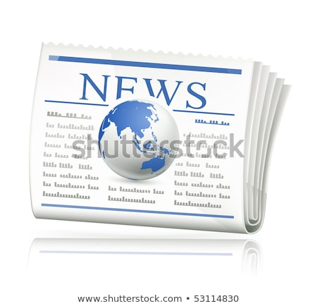 economic newspaper press icon Stock photo © romvo
