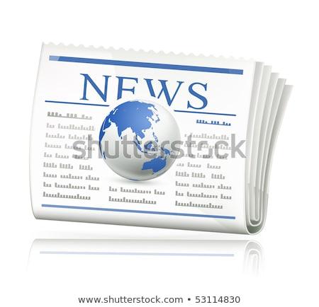 экономический газета прессы икона серый прозрачный Сток-фото © romvo