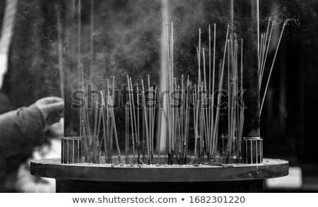 Wierook tempel kyoto Japan gouden brand Stockfoto © daboost