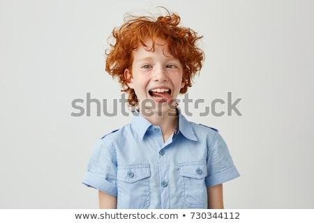 мальчика лице краской сердиться Сток-фото © Bananna