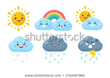 vector cute weather icons Set Stock photo © VetraKori