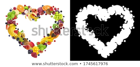 Egészséges étrend nyers fehér asztal diéta terv Stock fotó © neirfy